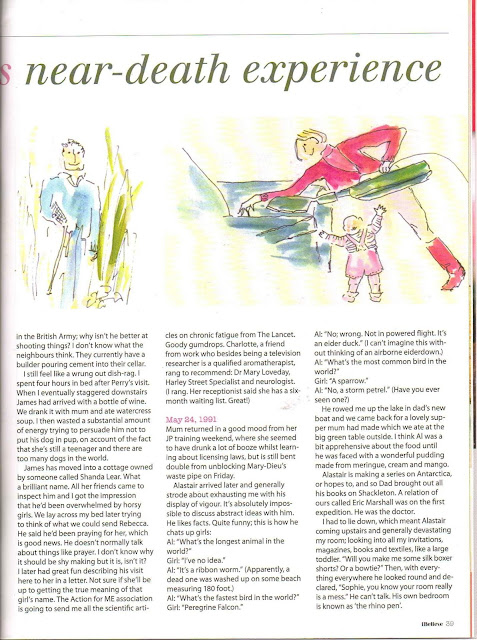 Sophie Neville's diary and illustrations featured in the June edition of iBelieve the inspirational Christian lifestyle magazine