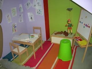 Espacio para los niños en el Gimnasio De Mujer