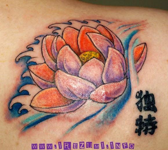 lotus,tattoo,kanji,jaanese、蓮の刺青