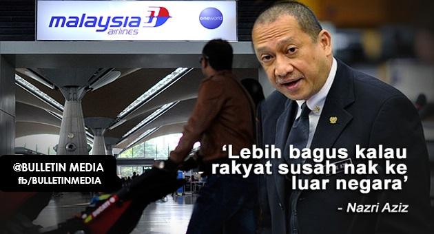"""Lebih Bagus Kalau Rakyat Susah Nak Ke Luar Negara"" - Nazri... Apa Pula Kata Netizen, JOM BACA"