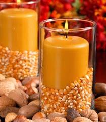 Идеи за декорация на есенни свещи