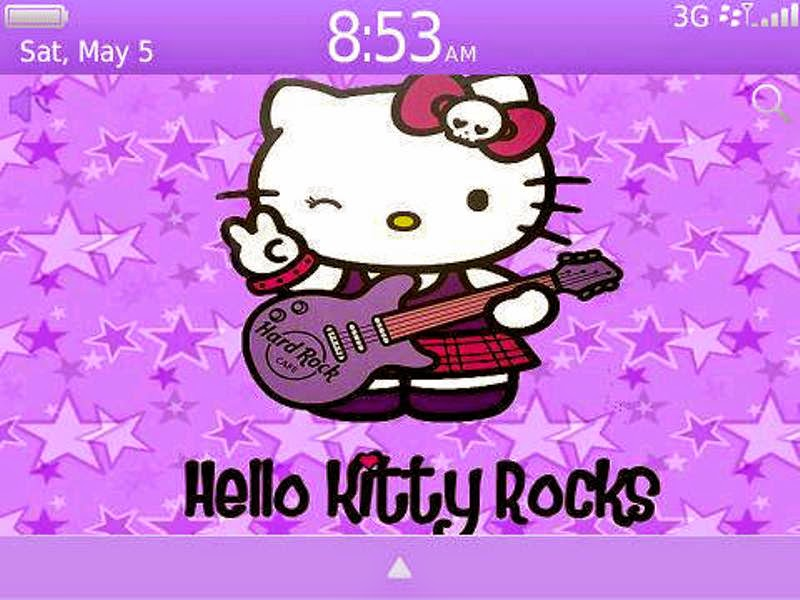 Gratis gambar wallpaper Hello Kitty ungu