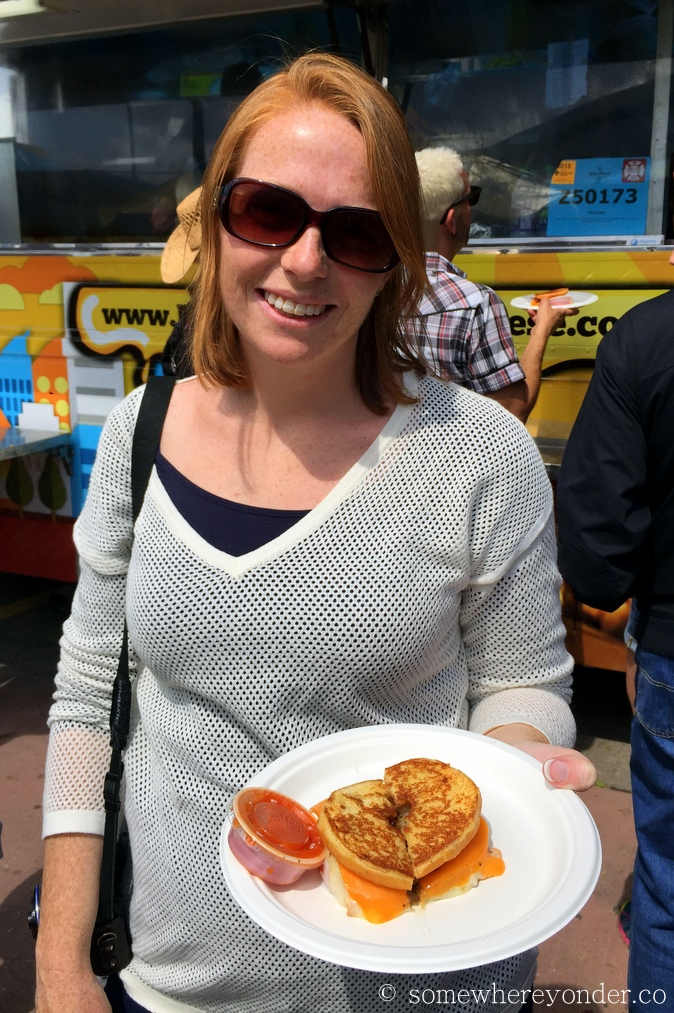 Grilled cheese donut sandwich at the 2015 Calgary Stampede, Canada