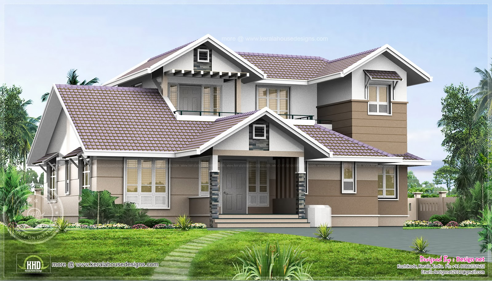 1980 Square Feet Home Plan Elevation Kerala Home Design