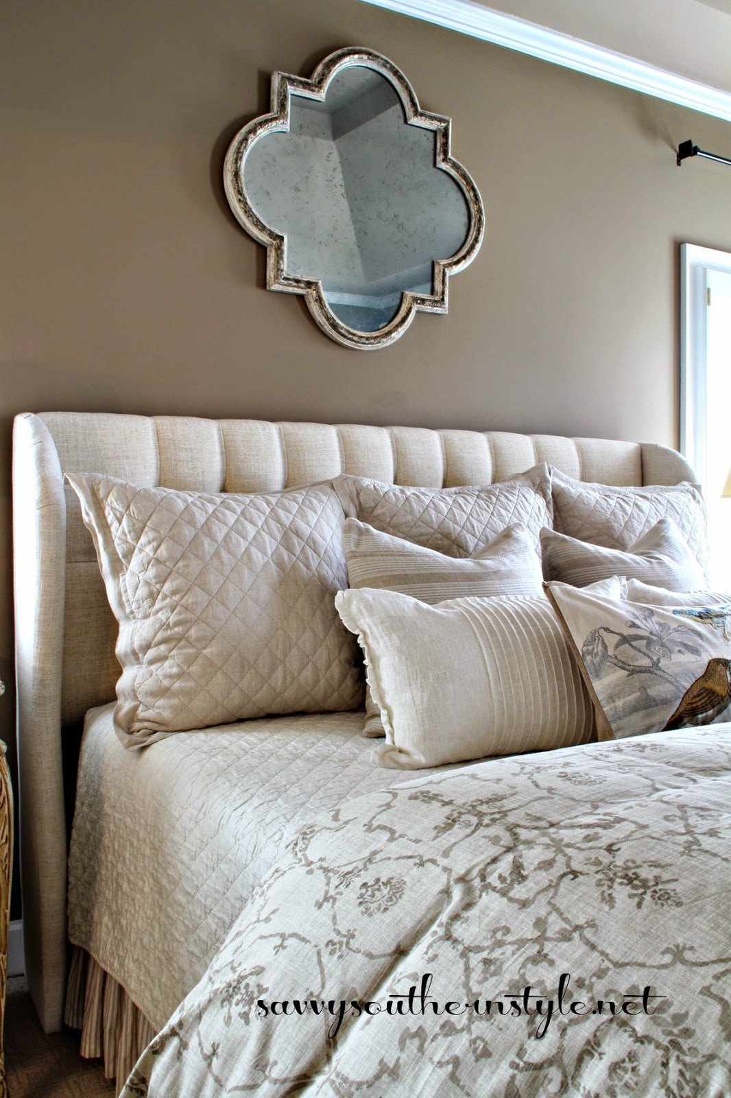 Savvy southern style neutral master bedroom for Southern style bedroom