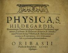 Hildegard escribió Physica