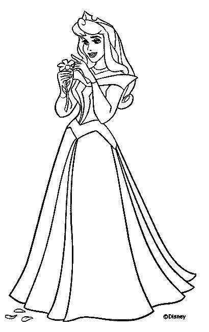 Aurora Coloring Page