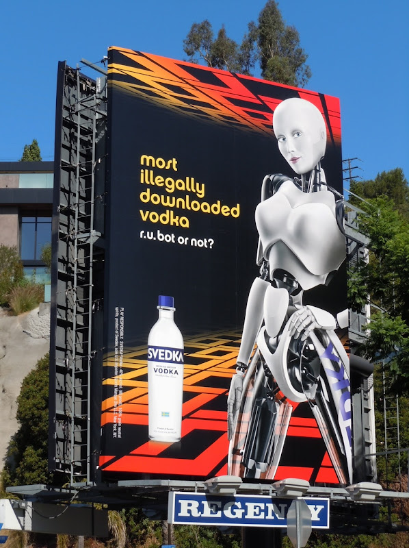 Svedka downloaded vodka billboard