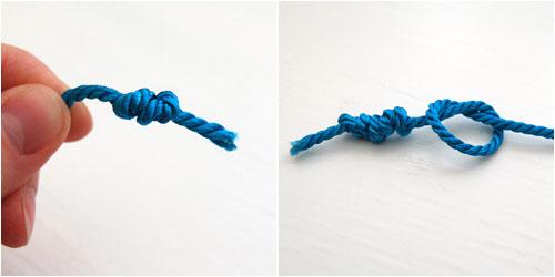 Как сделать узелок для нити 367