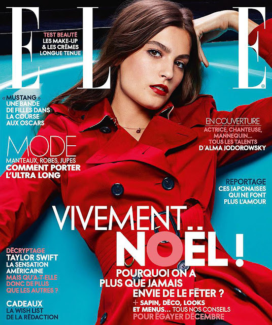 Actress, Singer, Model, @ Alma Jodorowsky - ELLE France, December 2015
