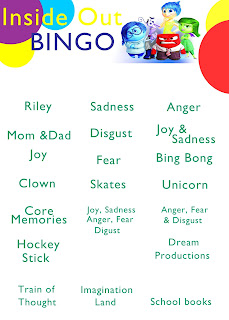 Printable Inside Out Bingo Game. Perfect for getting your kids to talk about their emotions! #InsideOutEmotions #ad