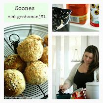Riktigt saftiga scones med yoghurt och grahamsmjöl