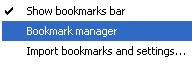 Use Bookmark to edit / delete /add Bookmark
