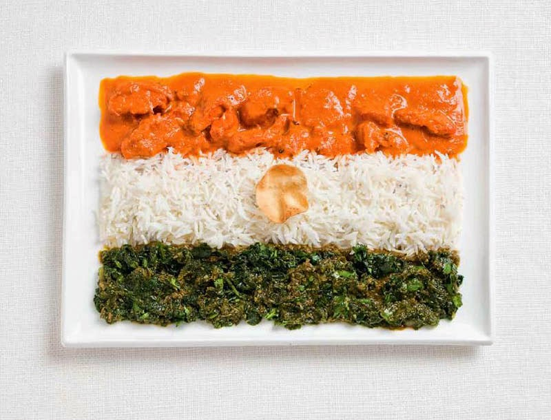 18 National Flags Made From Food - India
