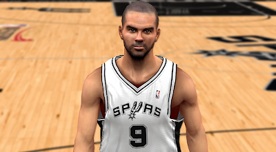 NBA 2K14 Tony Parker Cyberface Mod
