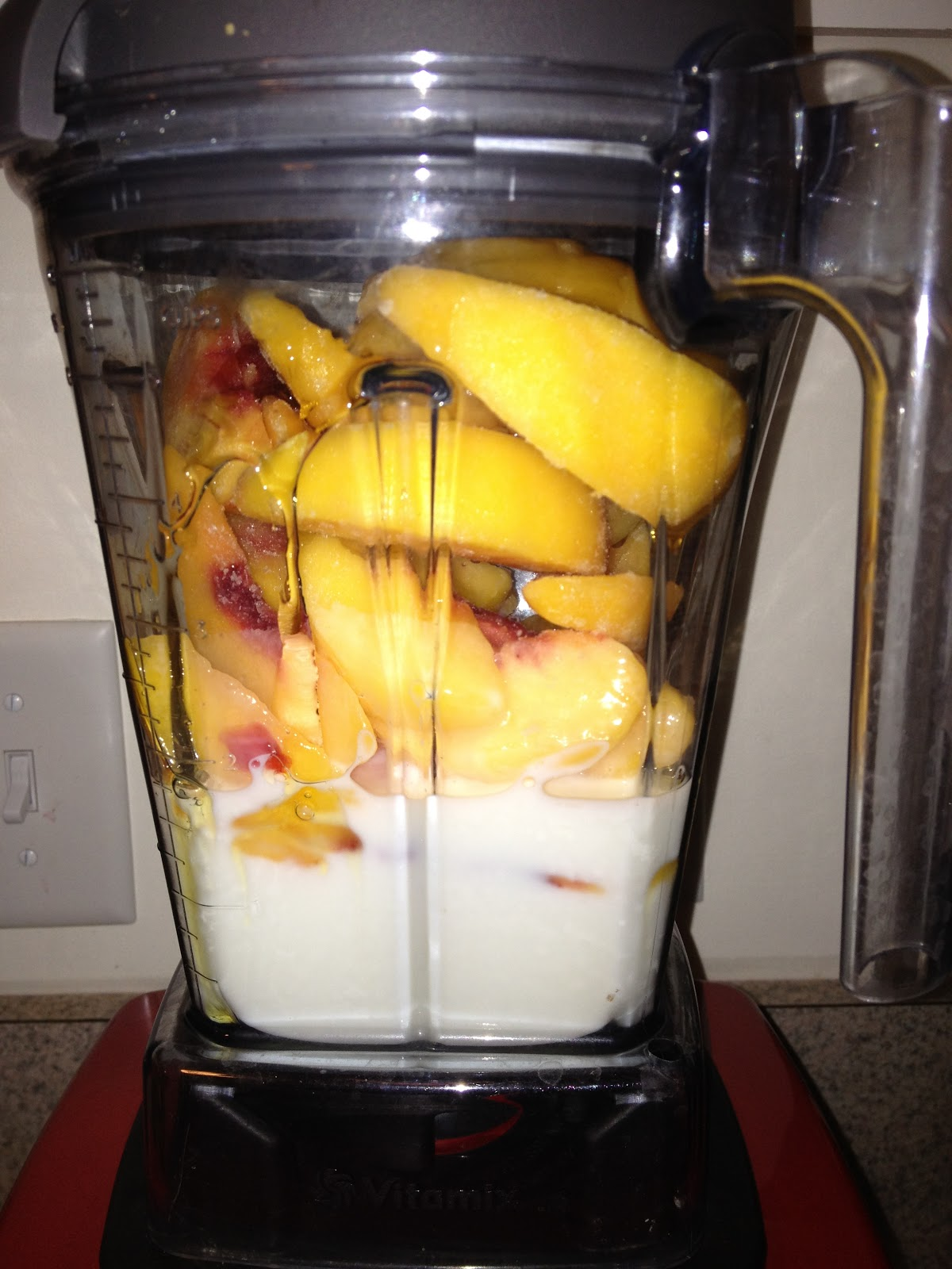 Clean peach ice cream andrea bai one of my favorite features of my vitamix is the ability to make fresh ice cream in seconds ive tried this recipe in the ninja and it worked well also ccuart Images