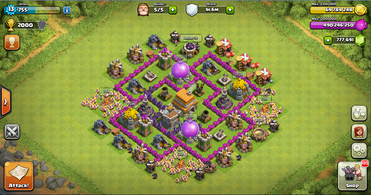 Base farming layout th6 by spikerush base farming layout th6 by - Thropy Base Clash Of Clans Th 6 Design Base Clash Of Clans Terbaik