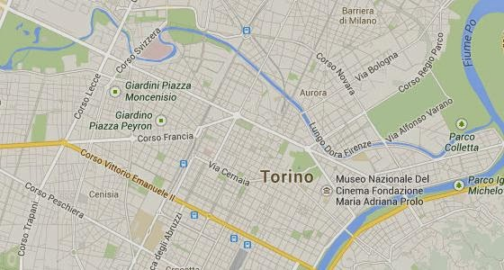 Map of Turin