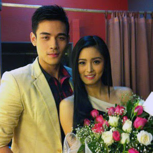 Xian Lim surprises Kim Chiu with a tree of roses
