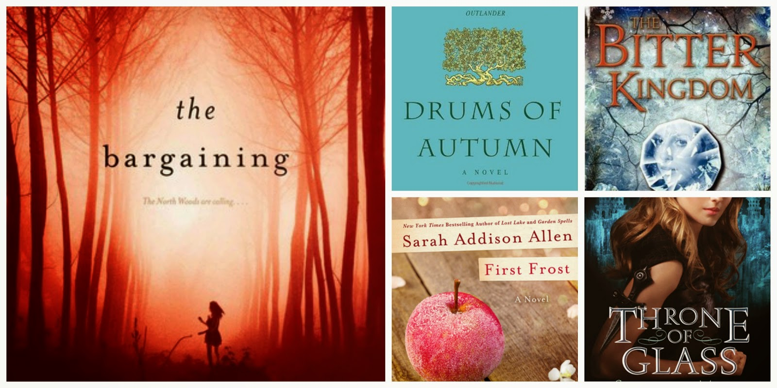 7 Drums Of Autumn (outlander #4) By Diana Gabaldon 8 The Bitter Kingdom ( Fire And Thorns #3) By Rae Carson 9 First Frost By Sarah Addison Allen