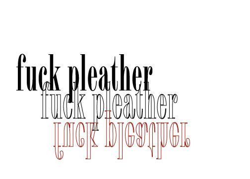 Fuck pleather