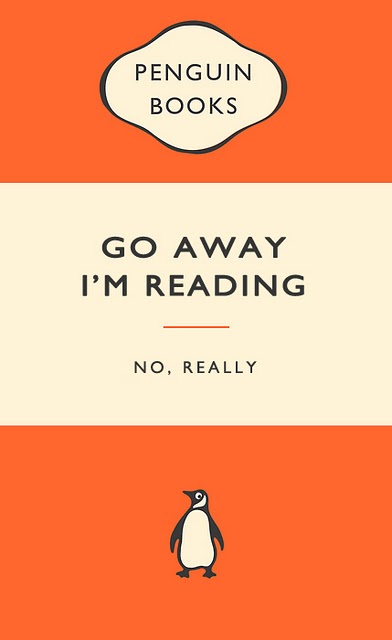 Penguin Book Cover Quotes ~ The book slooth go away i m reading