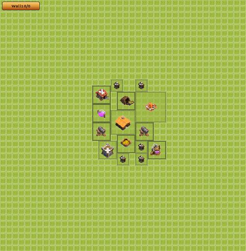 Formasi Base Town Hall 1-5 Clash of Clans (COC) Terbaik Untuk Clan War