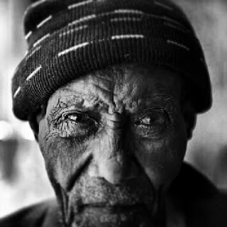 Photograph of old man in Ethiopia by Ethiopian photographer Michael Tsegaye