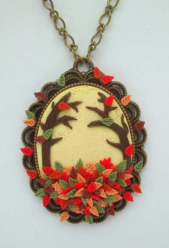pendant, wisior, necklace, autumn, jesienny,