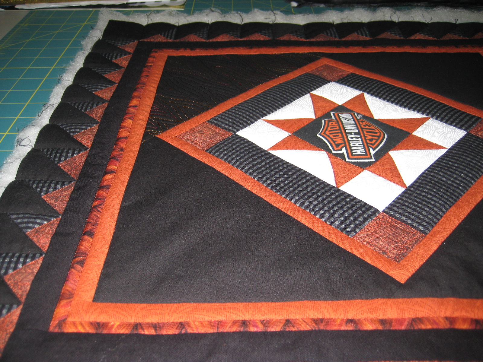 Before Quilting The Flames