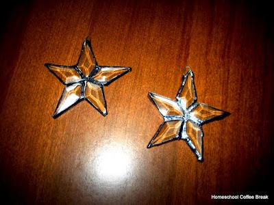 Glass Stars on the Virtual Refrigerator, an art link-up hosted by Homeschool Coffee Break @ kympossibleblog.blogspot.com #art #stainedglass #VirtualFridge