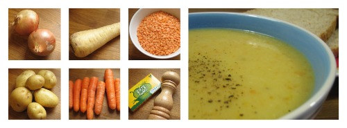 Basic lentil soup recipe - Perfect for lunch or supper - www.our-handmade-home.blogspot.com