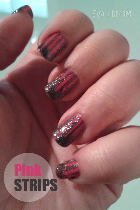 Nails of the week: Nail art - Pink Strips