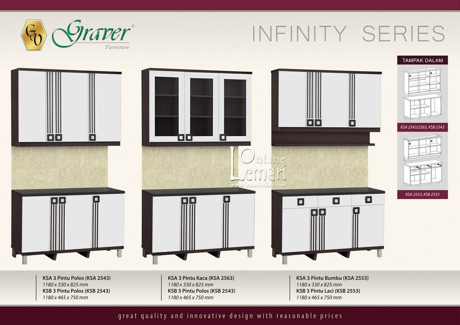 Graver Furniture Kitchen Set Bawah 3 Pintu Ksb 2653 Update Daftar