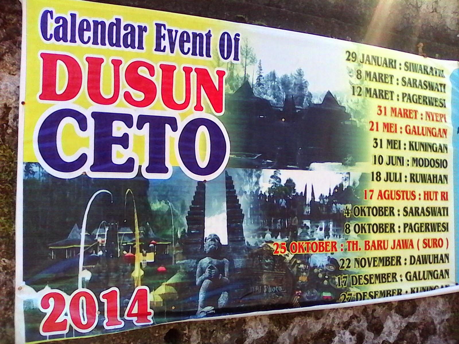 candi cetho - event 2014