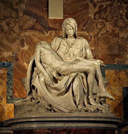 MICHELANGELO's Pietà in St. Peter's Basilica in the Vatican