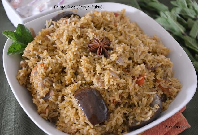 Brinjal Rice (Brinjal Pulav)