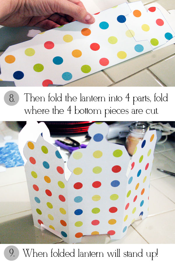 Painted preppy for Paper lantern tutorial