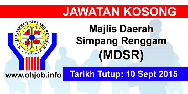 Jawatan Kerja Kosong Majlis Daerah Simpang Renggam (MDSR) logo www.ohjob.info september 2015