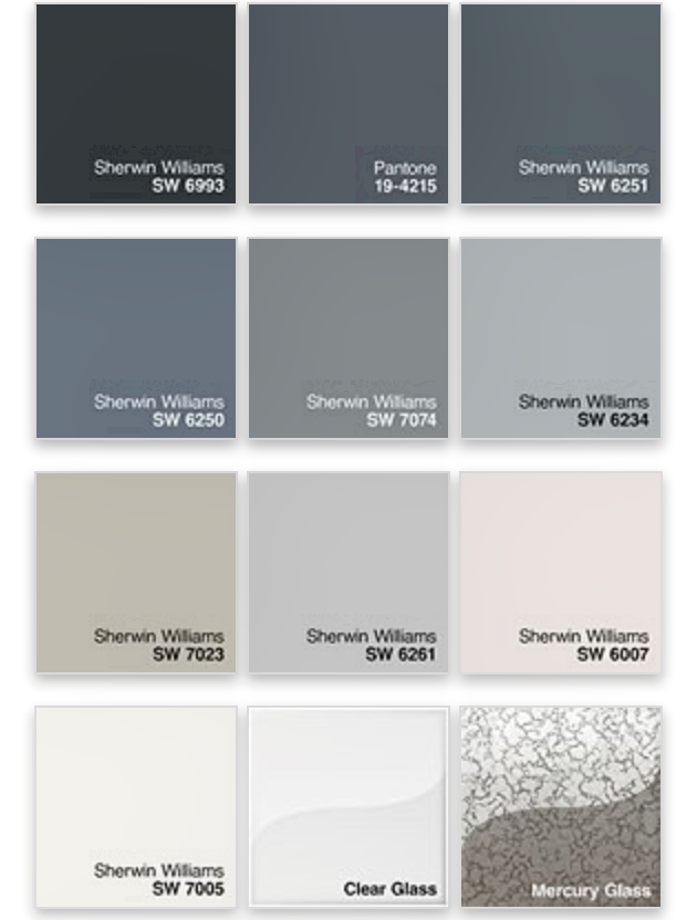 pantone color chart grey