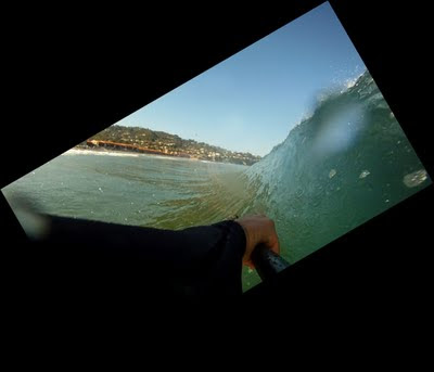 La Jolla Shores - Go Pro HD Surf Hero - Barrel Shot Attempt - Cover Up