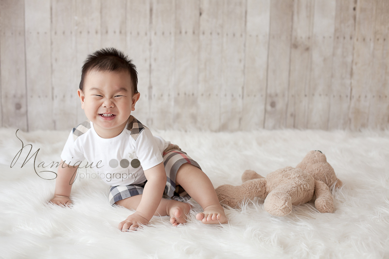 Burnaby Baby Photographer - Baby Boy big smile