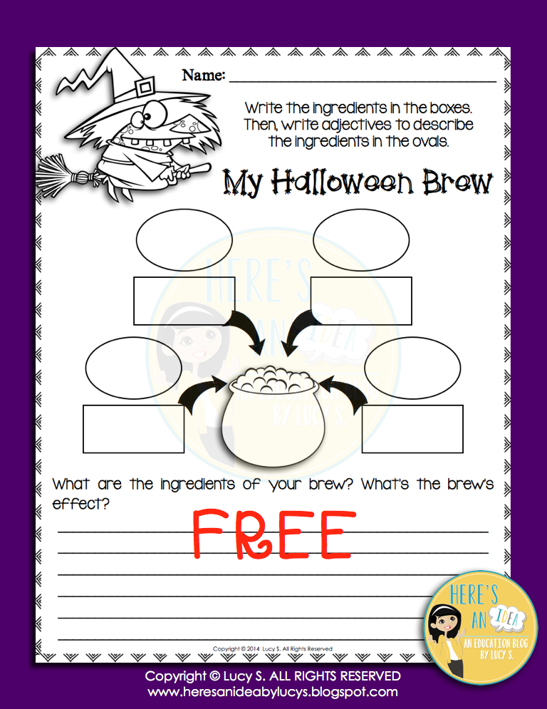 Free Halloween Brew - Using Adjectives Worksheet