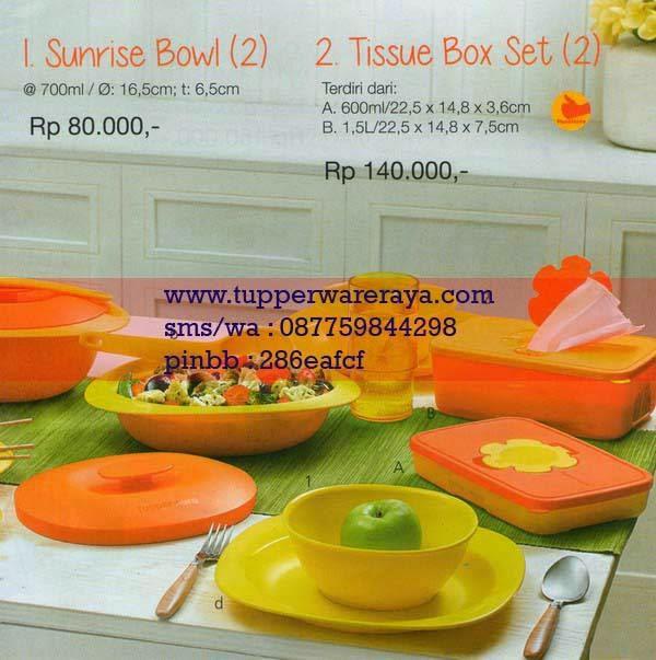 Katalog Tupperware Promo Januari 2015 Sunrise Bowl Tissue Box