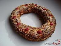 Roscón de Reyes de Trufa-relleno-roscón listo
