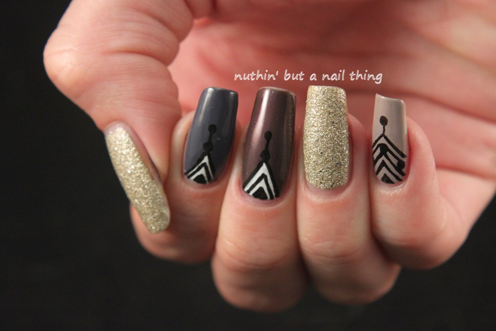 Nuthin but a nail thing easy tribal nail art easy tribal nail art design ideas prinsesfo Image collections