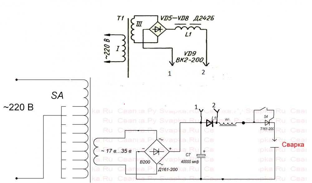 Схема сварки ММА+МИГ