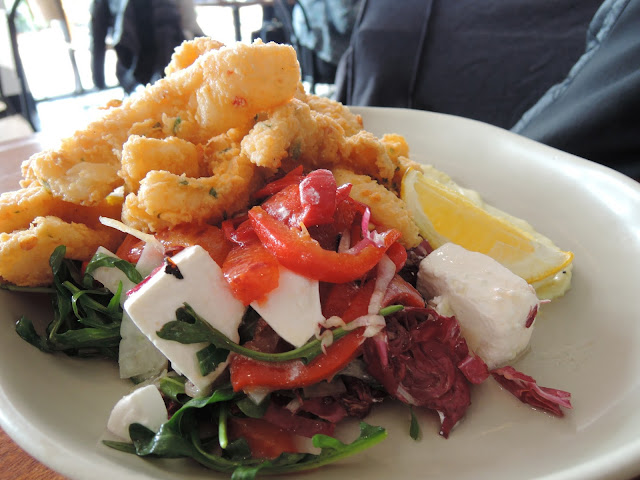 calamari, seafood, salad, south society, fresh, healthy, brunch, lunch, breakfast