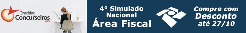 4° Simulado Nacional - Área Fiscal