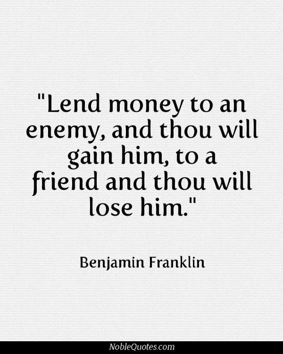 Friendship Quotes And Money Quotesgram